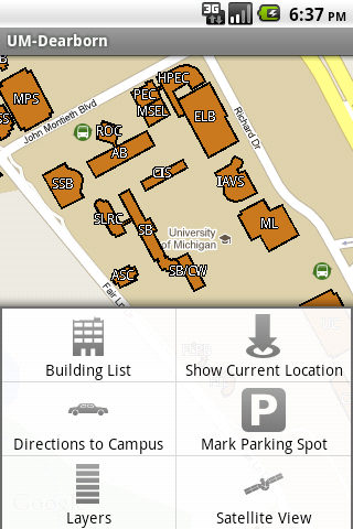 uofm dearborn campus map Mobile Um Dearborn Android App
